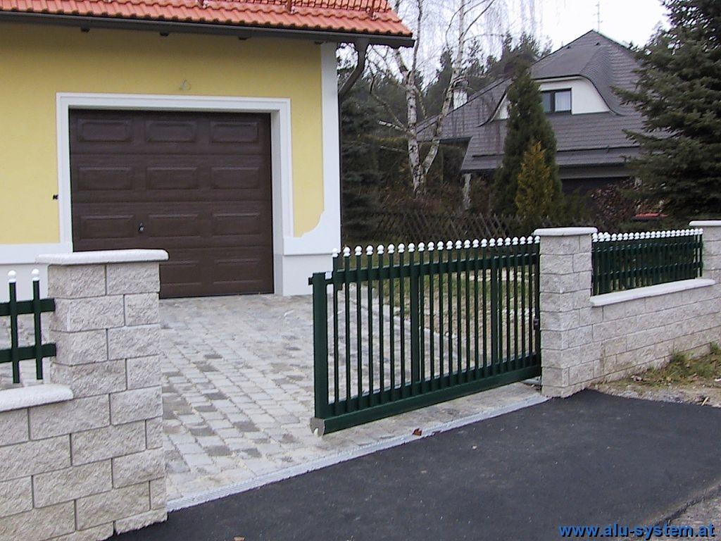 Gartentore mit Antrieb Alu System Metallbau e U