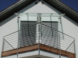 Edelstahl Vordächer